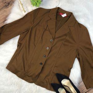 Anne Klein 18w camel color blazer
